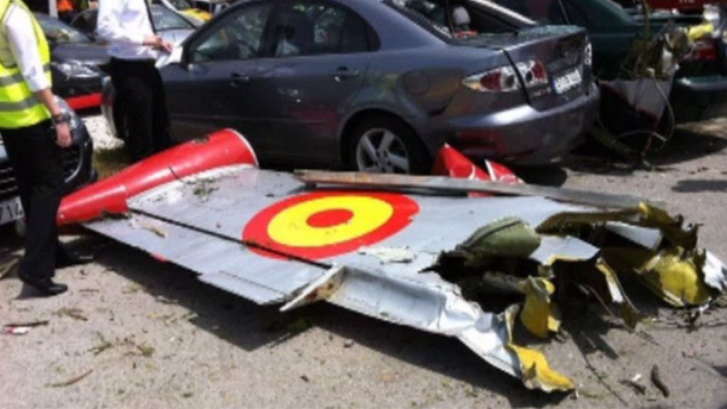El accidente del avión
