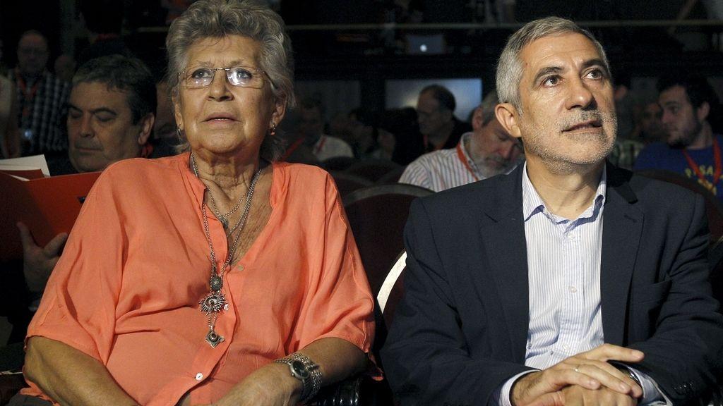 Pilar Bardem y Gaspar Llamazares