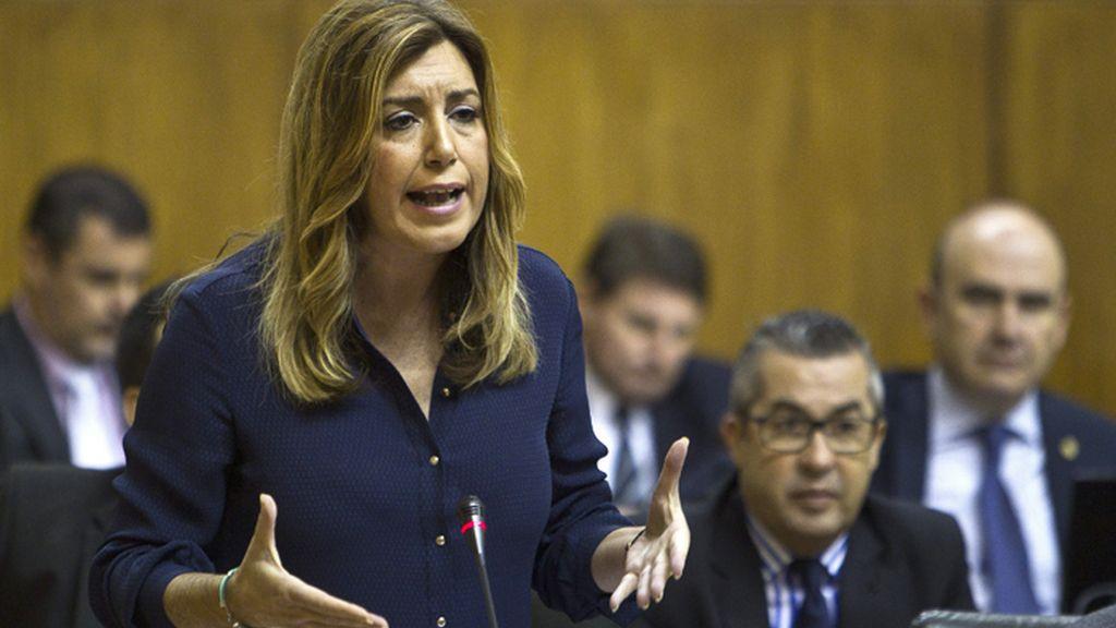 Susana Díaz, durante la sesión de control al Gobierno en el Parlamento de Andalucía