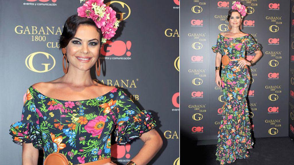 María José Suárez, con un vestido muy primaveral
