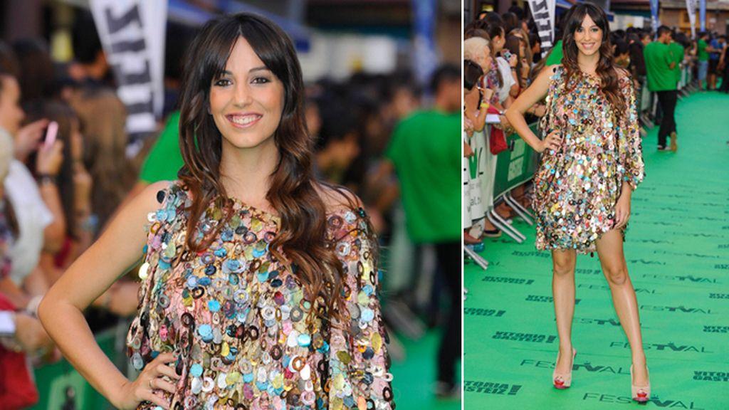 Almudena Cid, en la alfombra verde