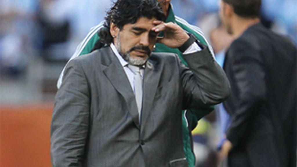 Diego Armando Maradona no se encuentra ahora mismo en su mejor momento. Foto: Getty