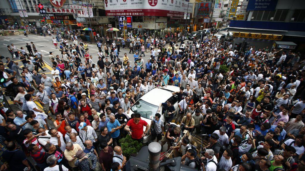 Manifestantes de Hong Kong