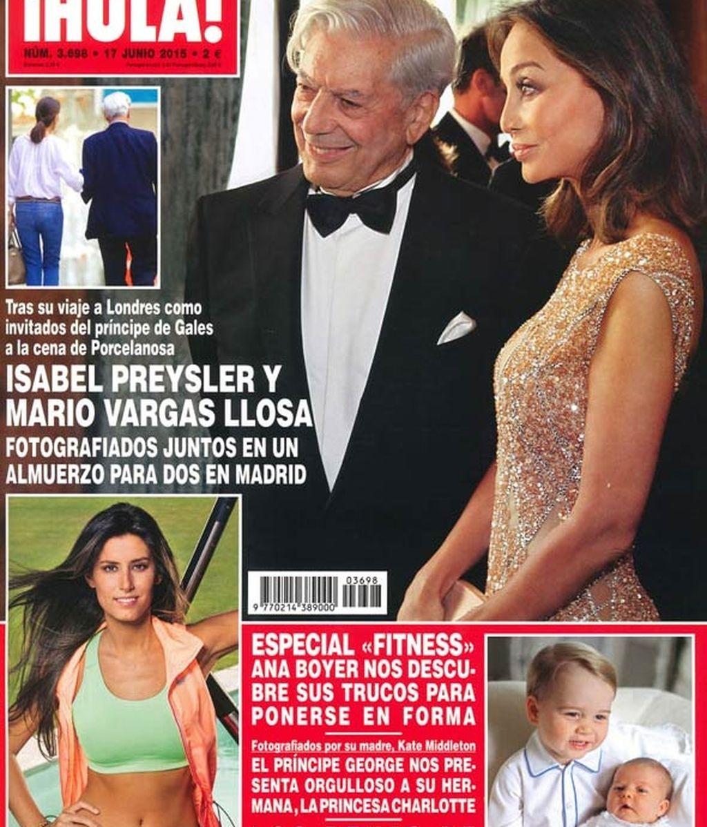 Isabel Preysler y Mario Vargas Llosa, portada de Hola