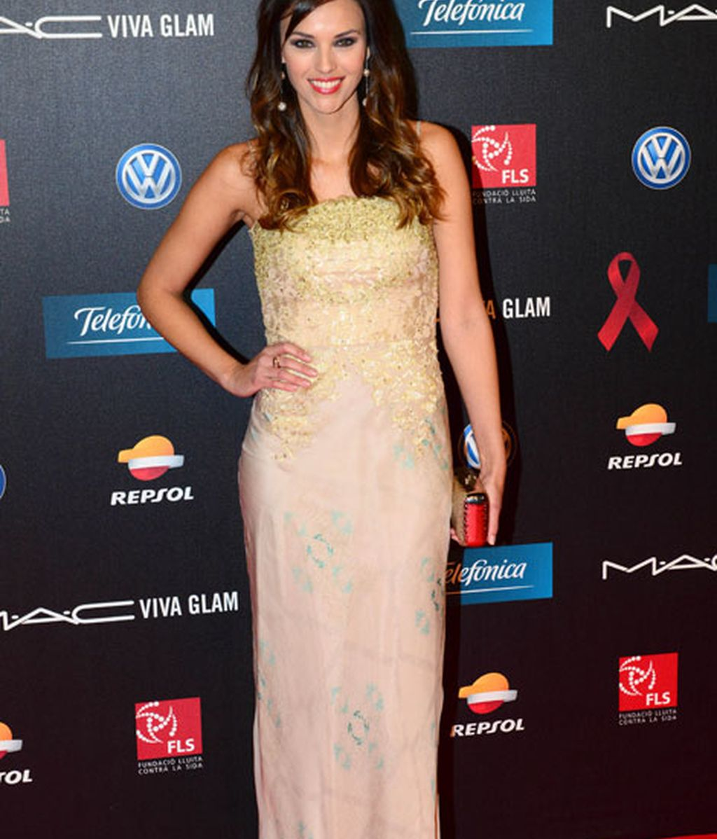 La modelo Helen Lindes, radiante