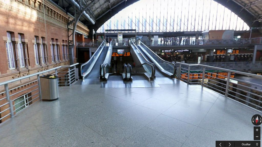 Google Street View estaciones de trenes Madrid