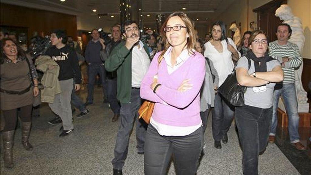 El portavoz de los controladores en Baleares, Javier Zanón, relata cómo han tenido que regresar a sus puestos de trabajo. Vídeo: Informativos Telecinco.