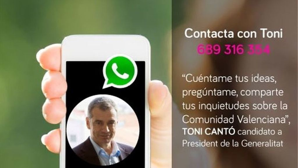 UPyD , número para contactar por WhatsApp, Toni Cantó