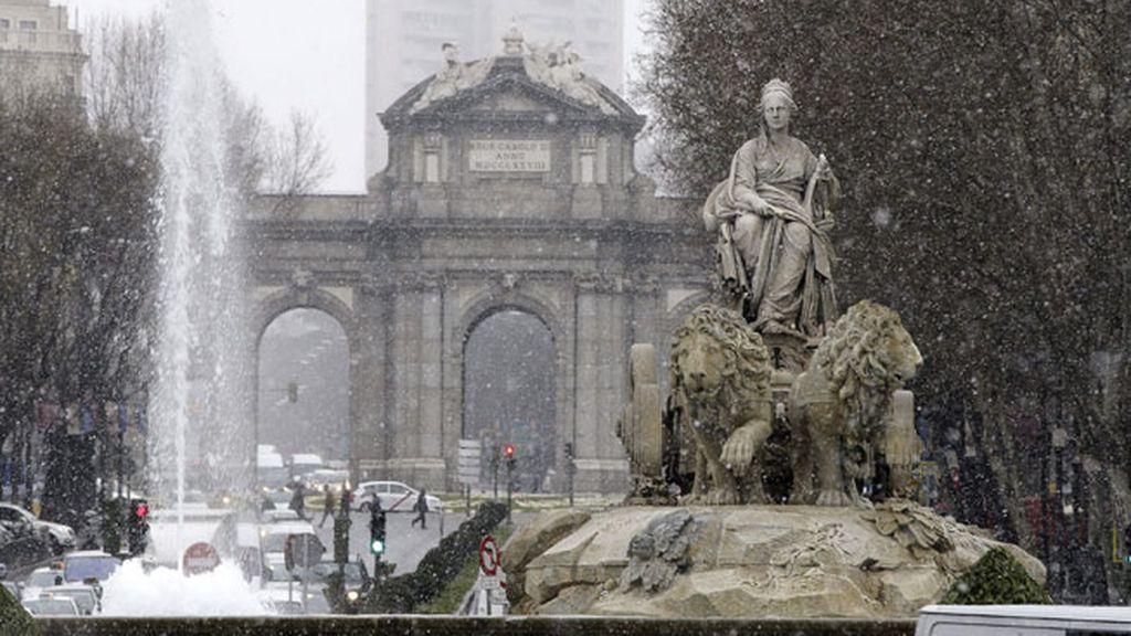 La nieve llega a la capital