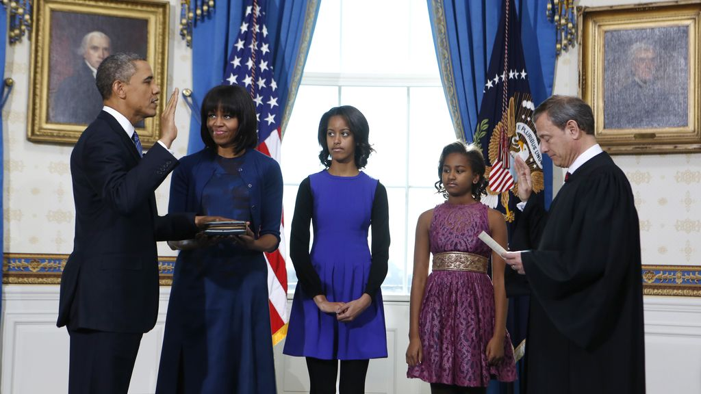 Obama presta juramento para su segundo mandato presidencial