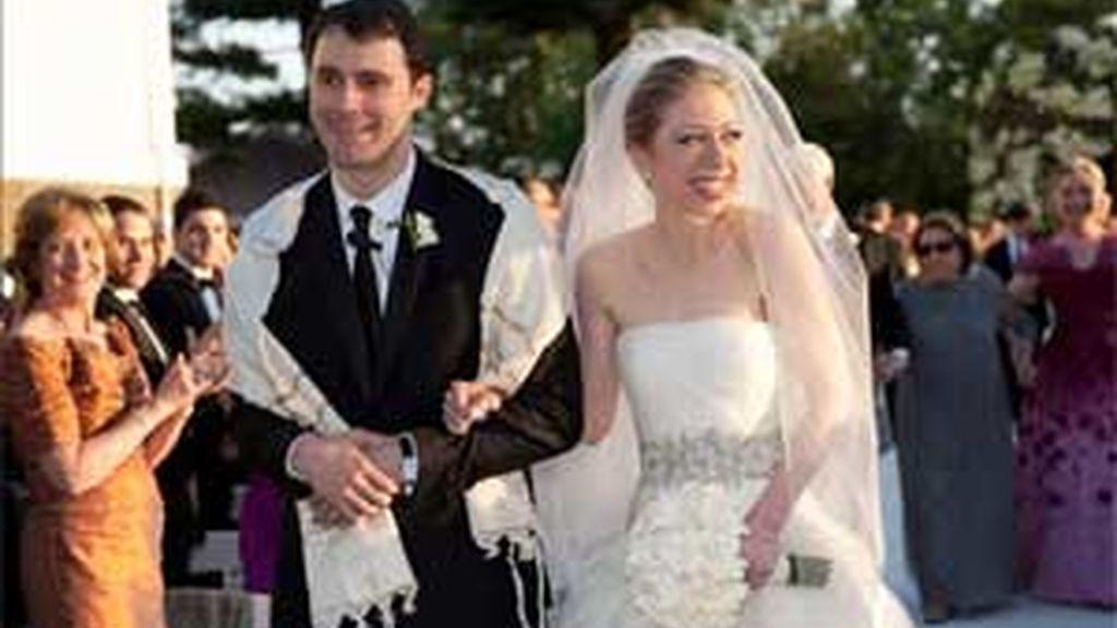 La boda se celebró en los Tribunales Astor, una histórica finca a lo largo del Río Hudson. Vídeo: ATLAS.