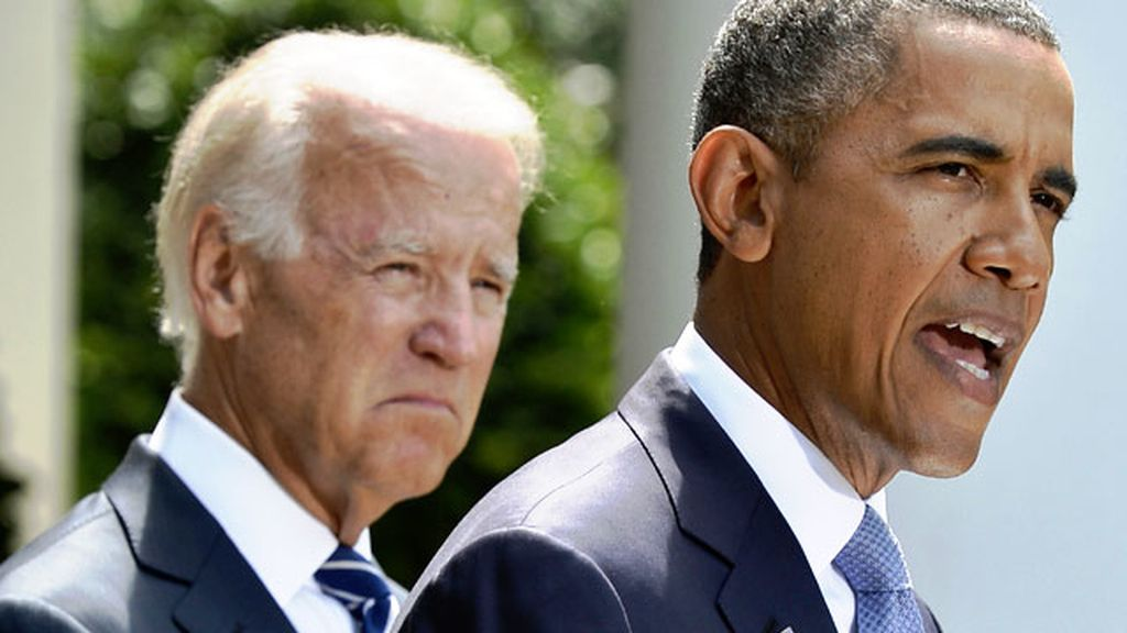 Obama y su vicepresidente, Joe Biden