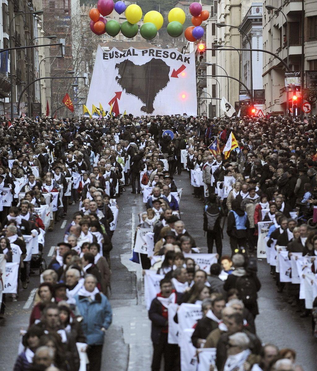 Marcha por los presos de ETA