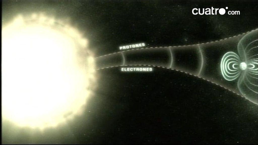 Tormenta solar que afecta a la Tierra