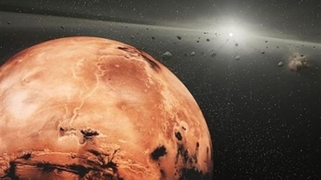 Hallan en Marte huellas de agua del último millón de años