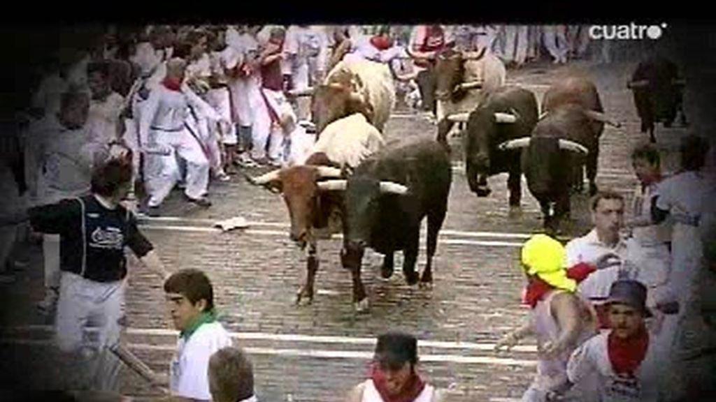 El primer encierro de San Fermín a cámara lenta