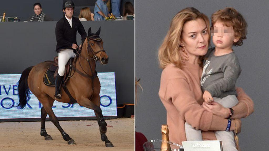 Marta Ortega y Amancio Junior vieron a Sergio Álvarez competir