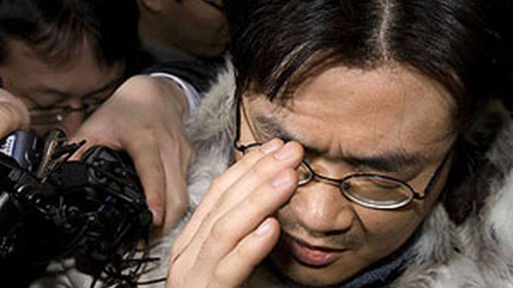 El 'blogger' surcoreano, conocido como Minerva, en el momento en que un Tribunal de Seúl aprobara su detención.