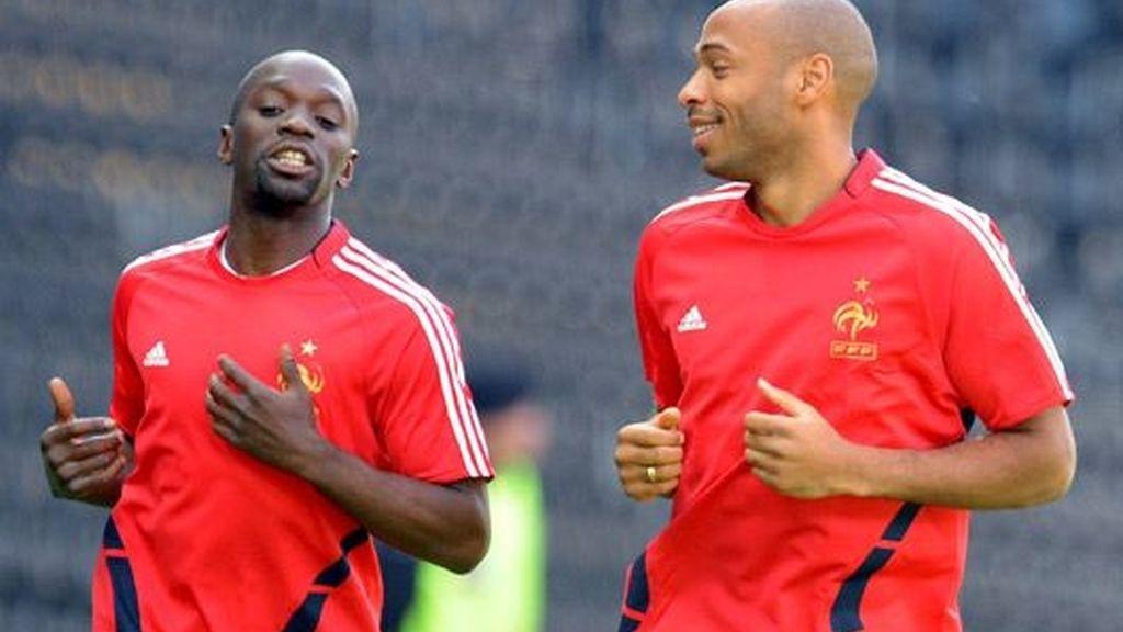 Makelele y Henry entrenan antes del duelo contra Holanda