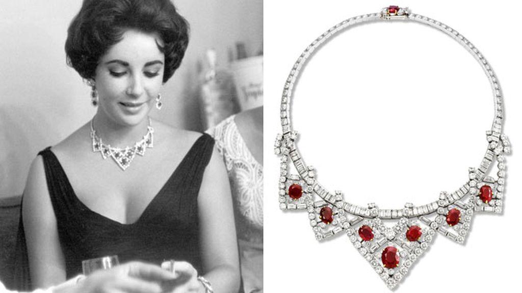 Collar de platino y oro de Elizabeth Taylor (1951)