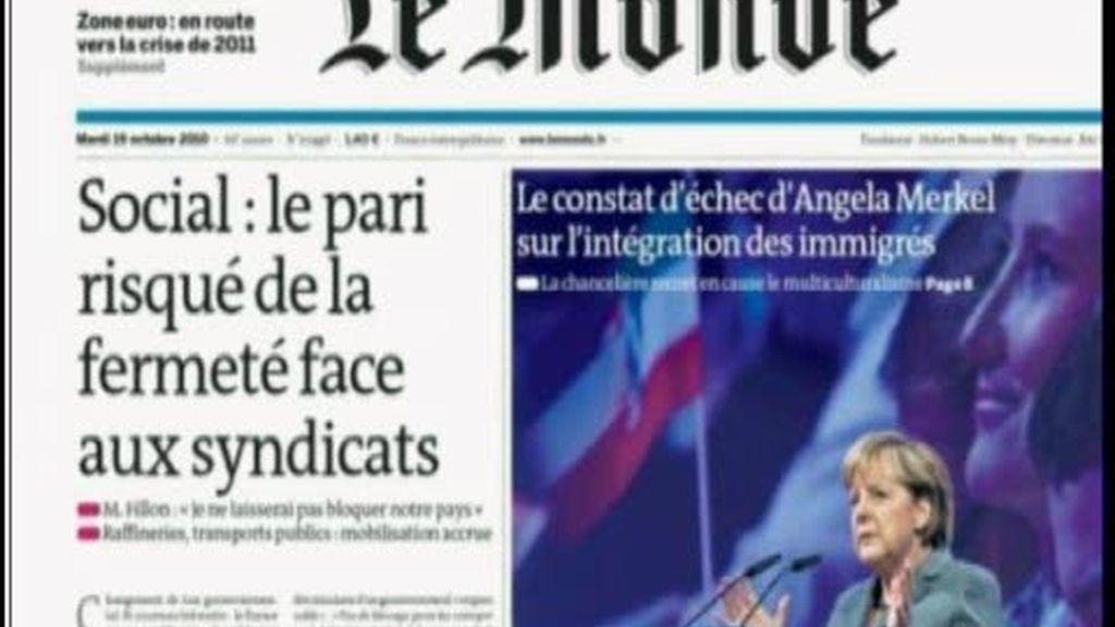La prensa francesa refleja el caos que vive el país