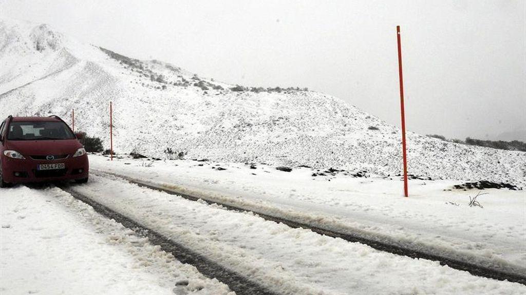 Nieve en el norte de España
