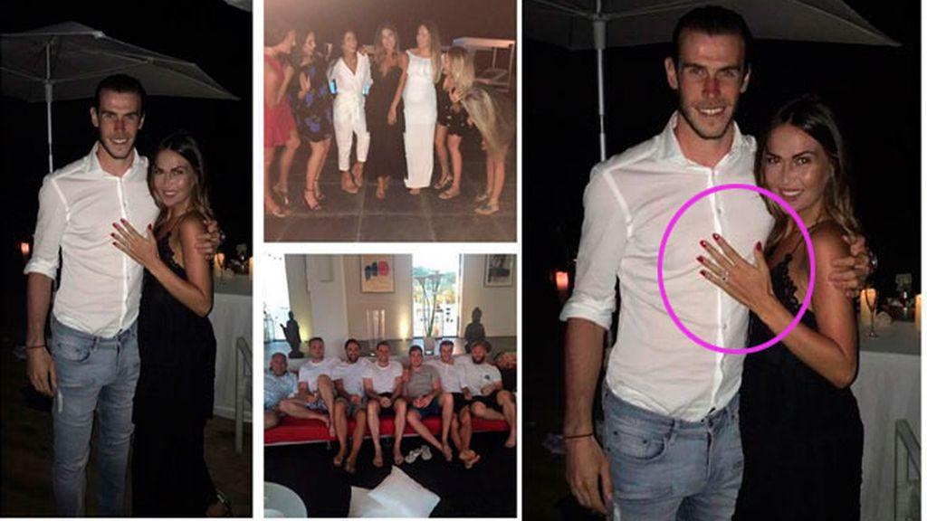 Ibiza, testigo de la pedida de mano de Gareth Bale a Emma Rhys-Jones