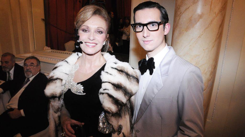 Con Silvia Tortosa, una de las musas del cine de la Transición