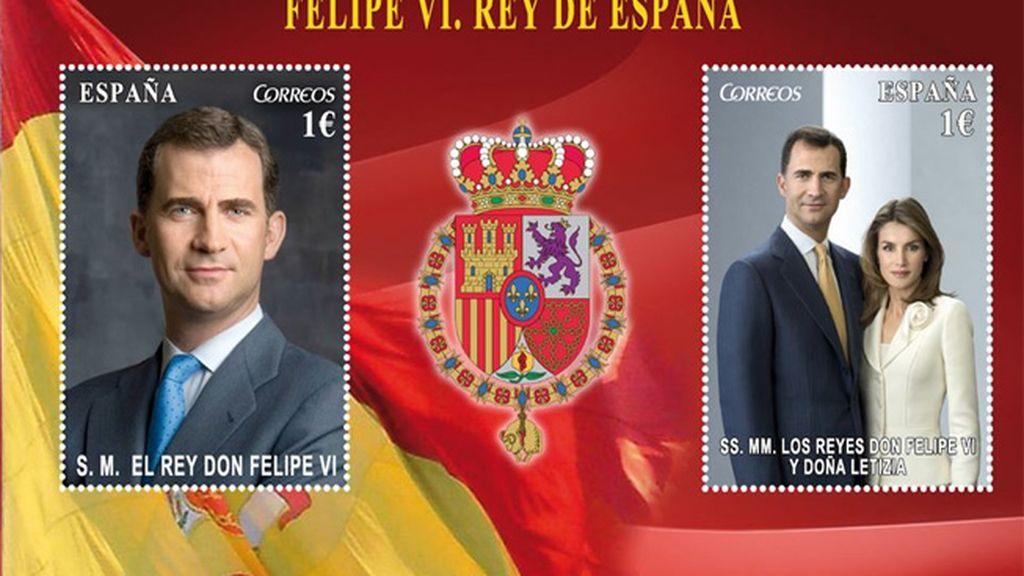 Felipe VI y Letizia, Reyes de España, en sellos