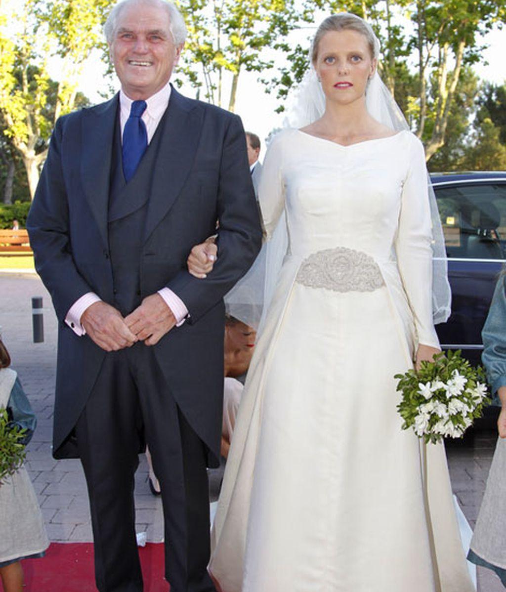 Leticia junto a su padre, Ramón Calderón