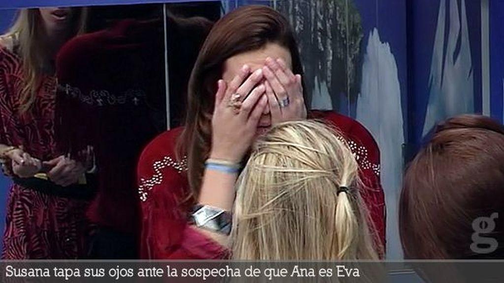 Susana tapa sus ojos ante la sospecha de que Ana es Eva
