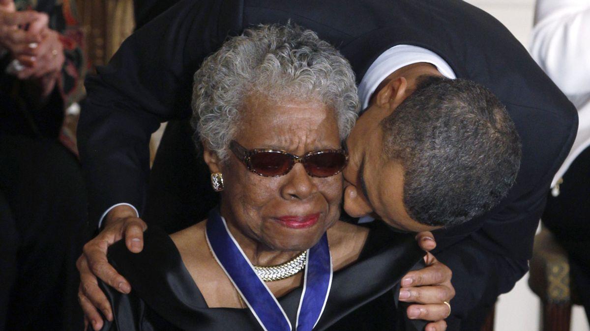 Maya Angelou recibe la medalla de la Libertad en 2011