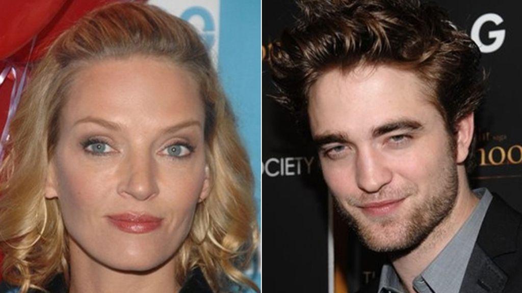 Uma Thurman y Robert Pattinson, protagonistas de 'Bel Ami'. Fotos: AP / Archivo