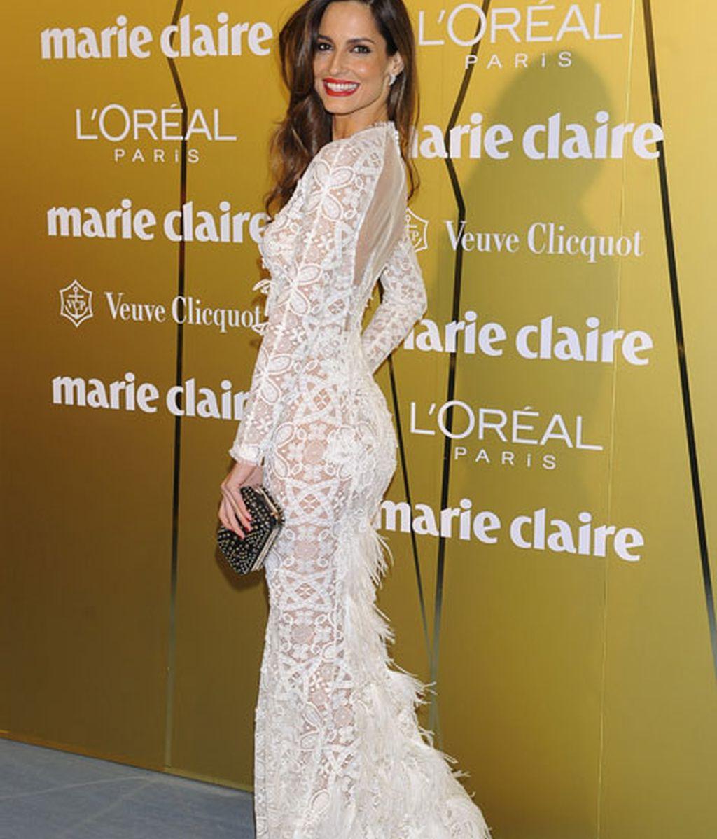 Ariadne Artiles, muy elegante con un vestido de Alfredo Villalba