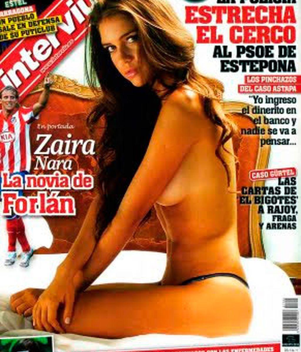 Así es Zaira Nara, la novia y futura mujer de Forlán