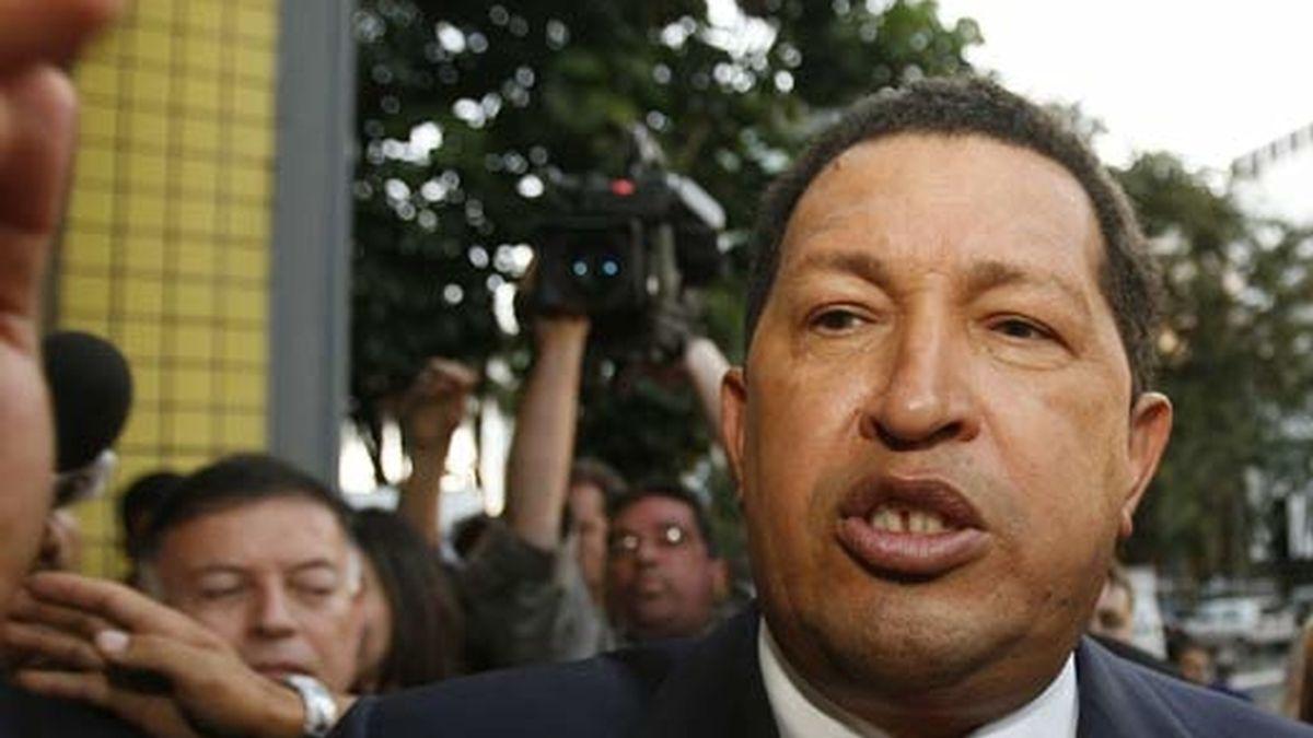 Chávez, en Brasilia, donde participa en la cumbre extraordinaria de la Unión de Naciones Suramericanas. Foto: EFE