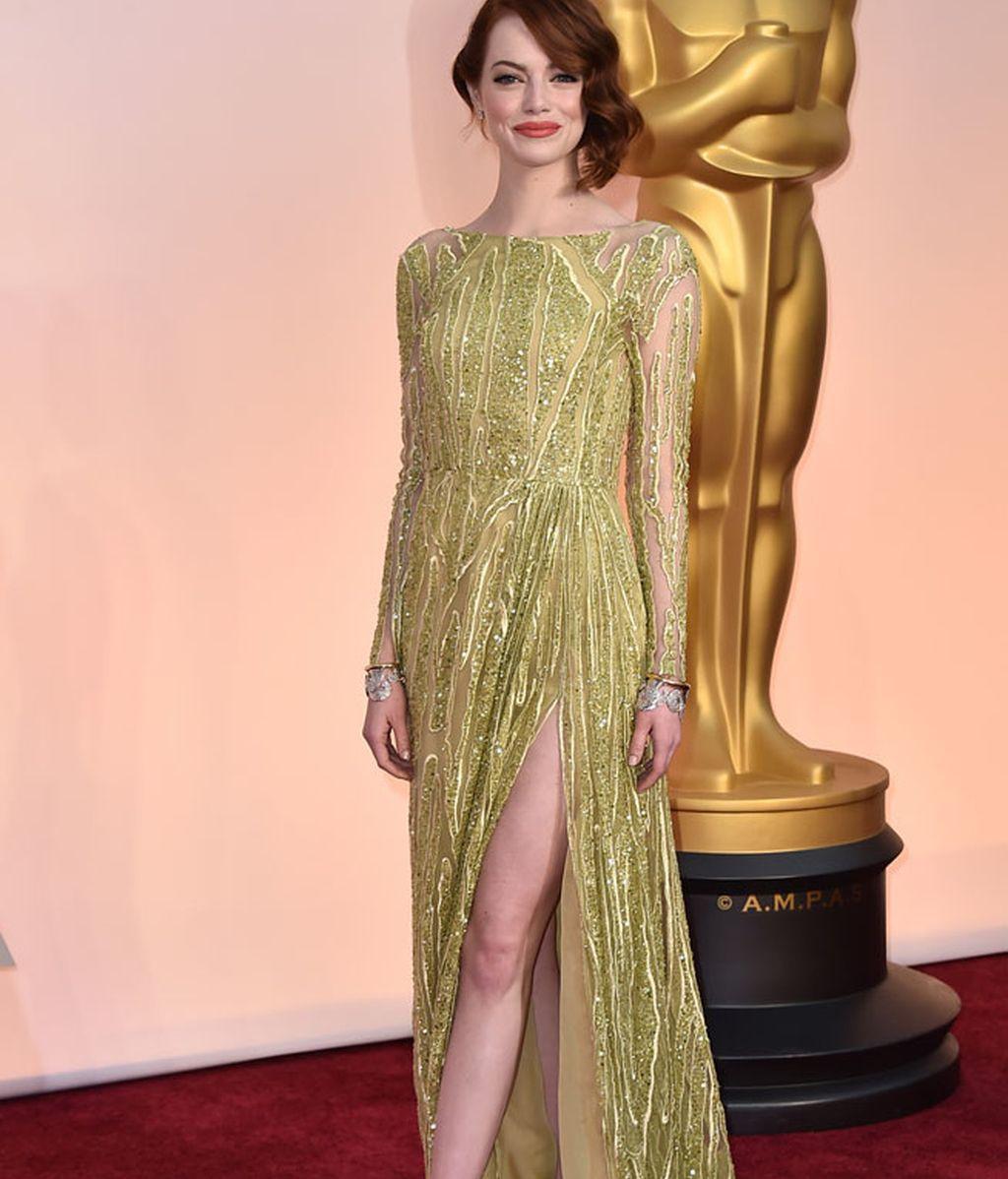 Emma Stone con vestido de Elie Saab