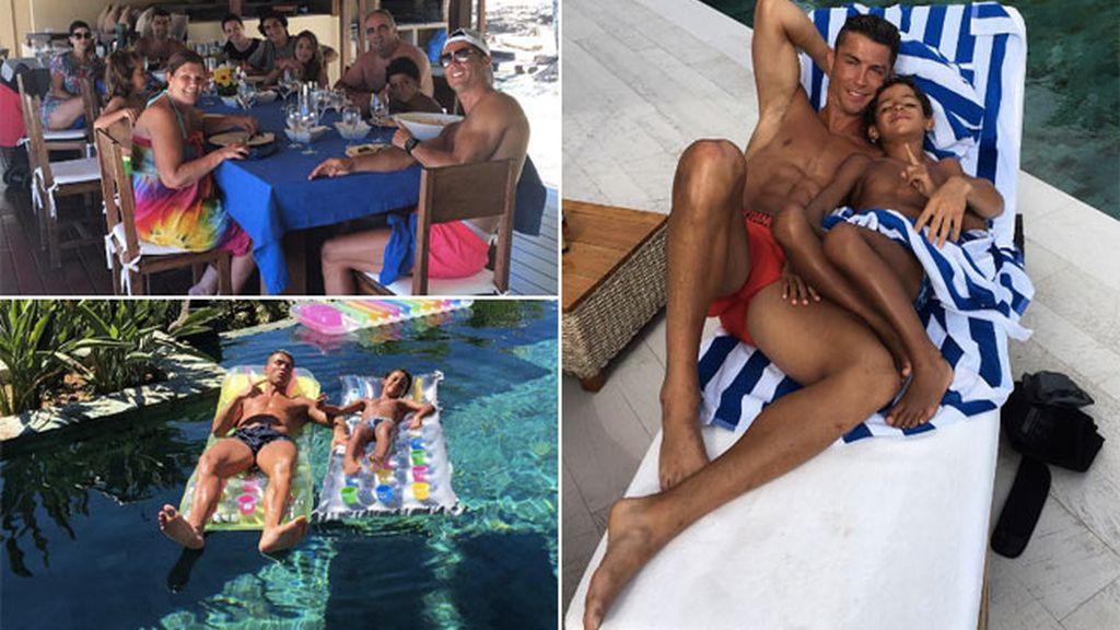 Cristiano Ronaldo en Ibiza, sin morena pero con un morenito muy especial