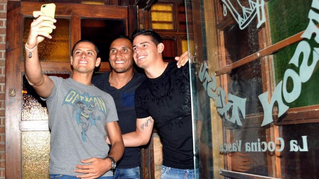 Chicharito, James Rodriguez, Keylor Navas