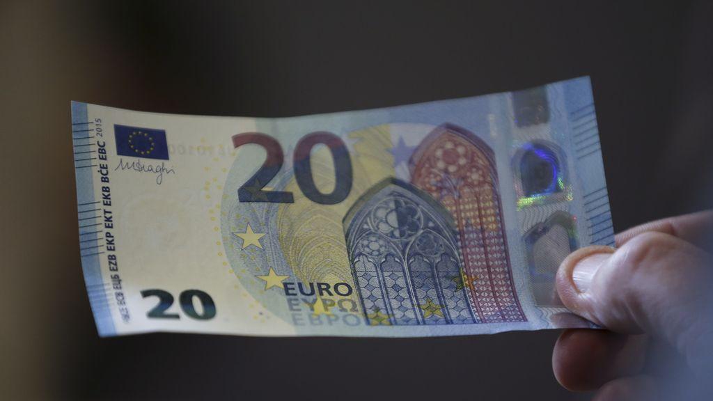 El nuevo billete de veinte euros llegará en Noviembre
