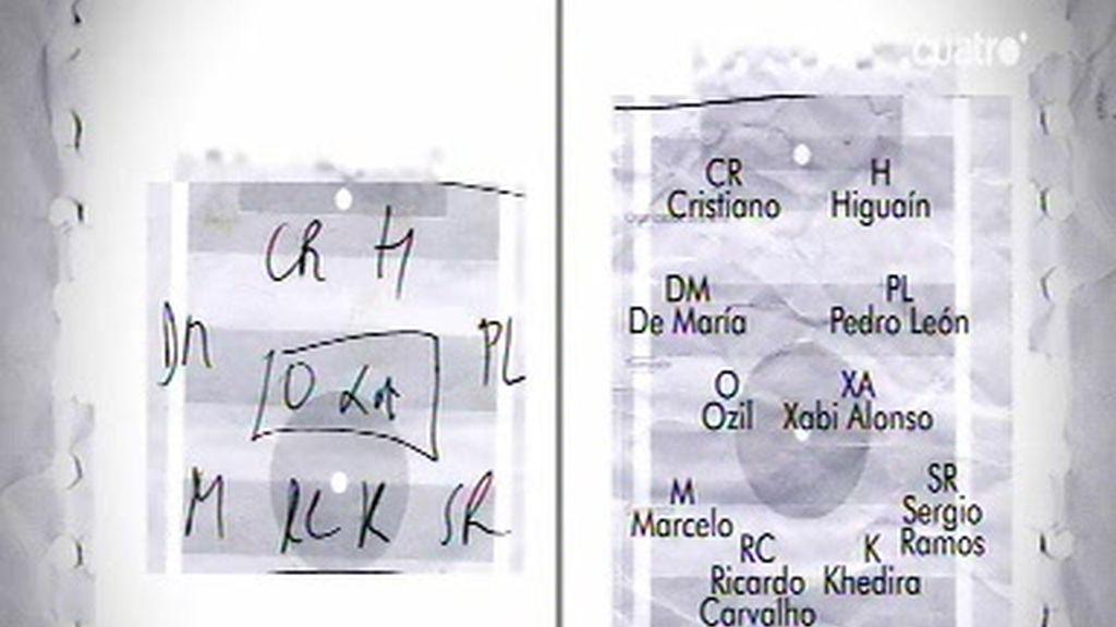 Las notas de la libreta de Mourinho