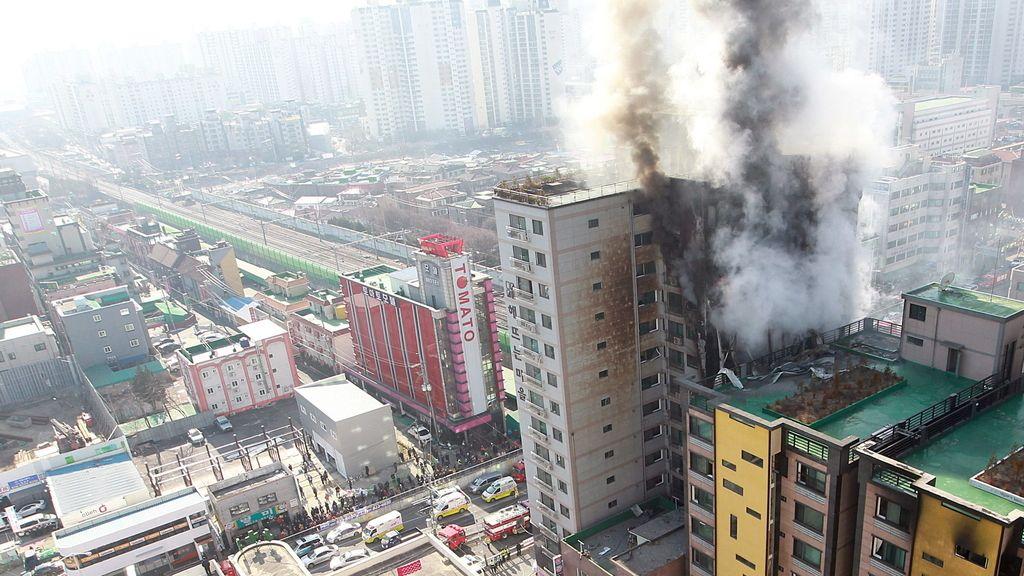 Incendio en Seúl