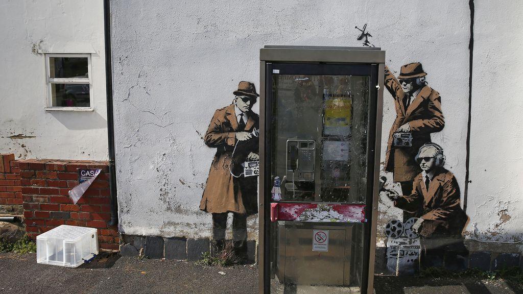 Banksy ilustra el espionaje