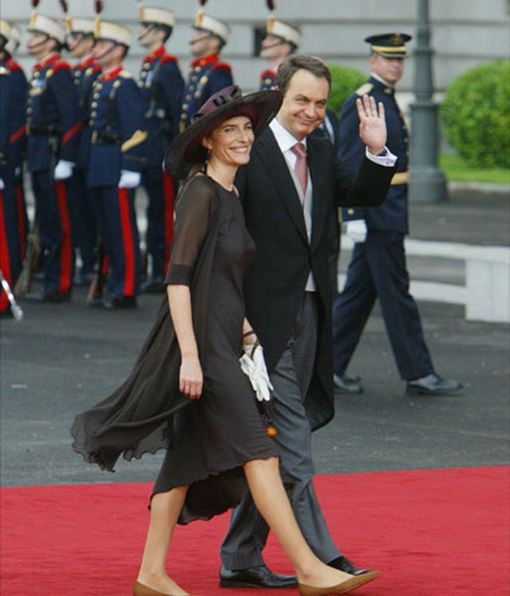 Con Sonsoles, en la boda de los Príncipes de Asturias