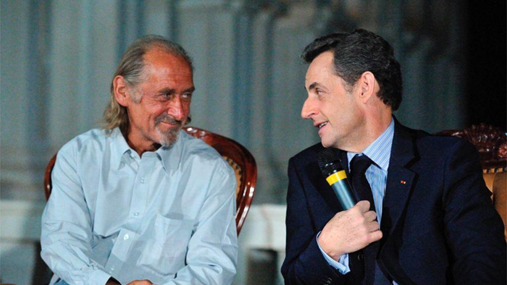 Sarkozy visita en Malí al rehén francés