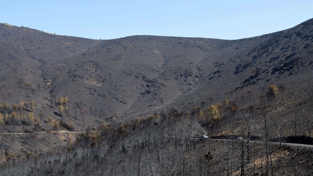 Incendio en Sierra de Gata