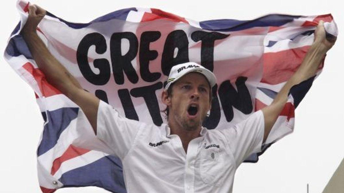 Button, celebrando el título. FOTO: Reuters.