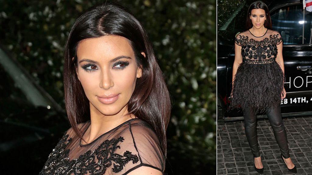 Kim Kardashian ya luce, orgullosa, su embarazo