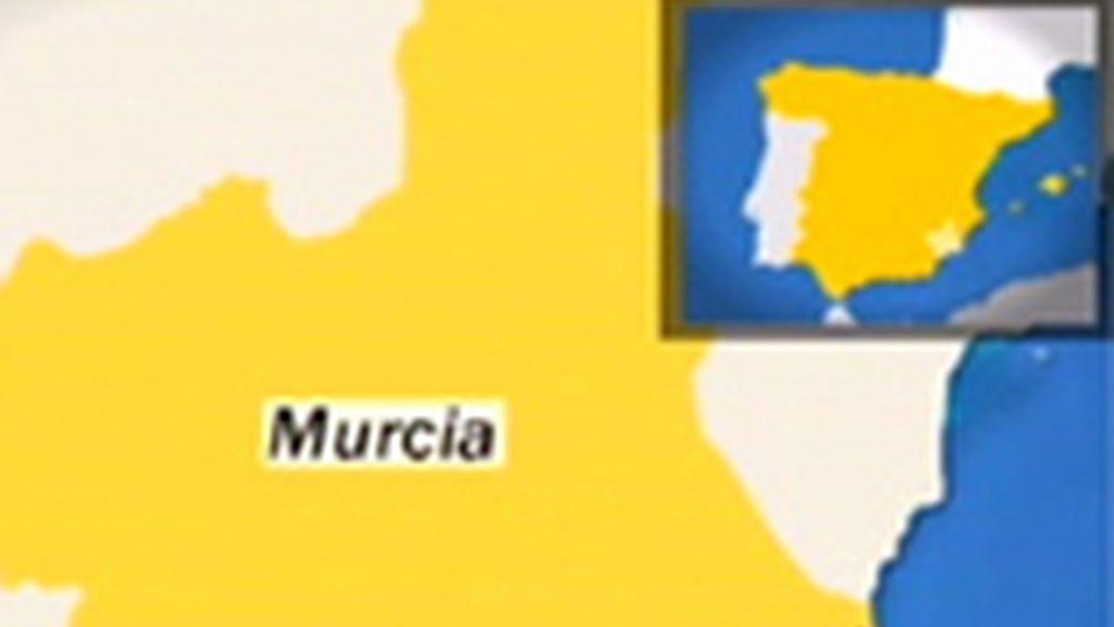 Localización de Lorca en Murcia.