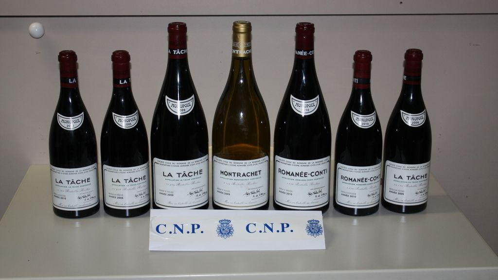 Botellas de vino robadas por valor de 100.000 euros